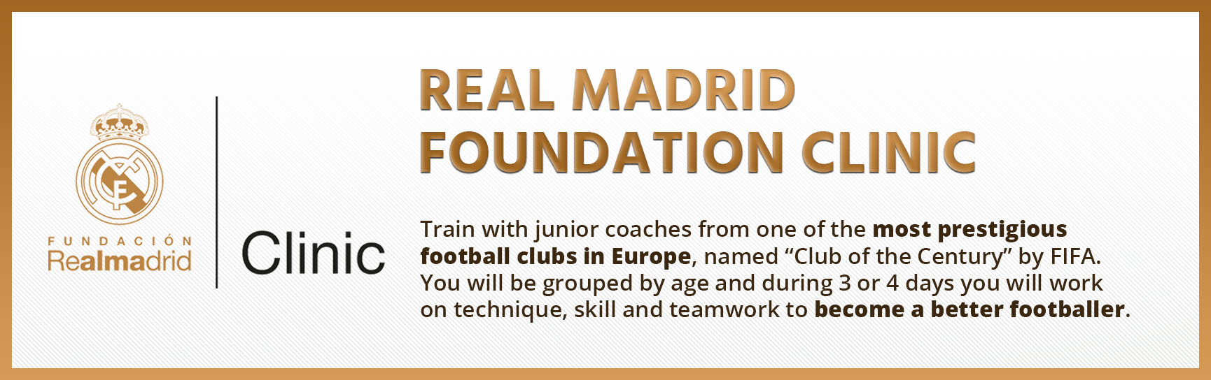 Real Madrid Foundation Football Clinic