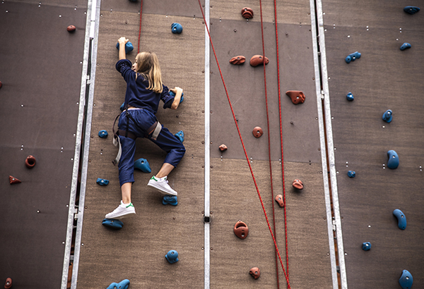 Campus climbing